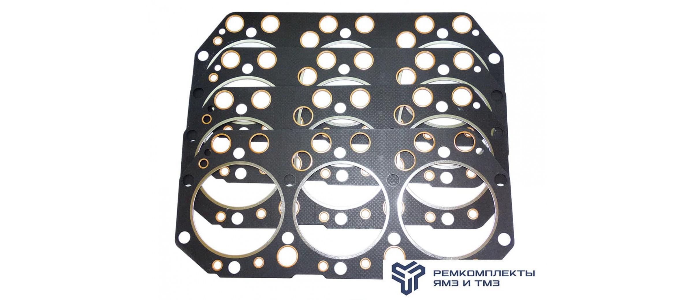 Комплект прокладок головки блока цилиндров общий головки (метал. асбест) односторонний