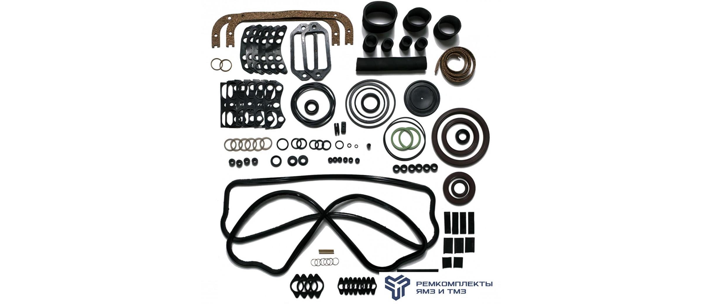 Ремкомплект РТИ на двигатель ЯМЗ-6562, 6563 (общая ГБЦ) без колец гильзы