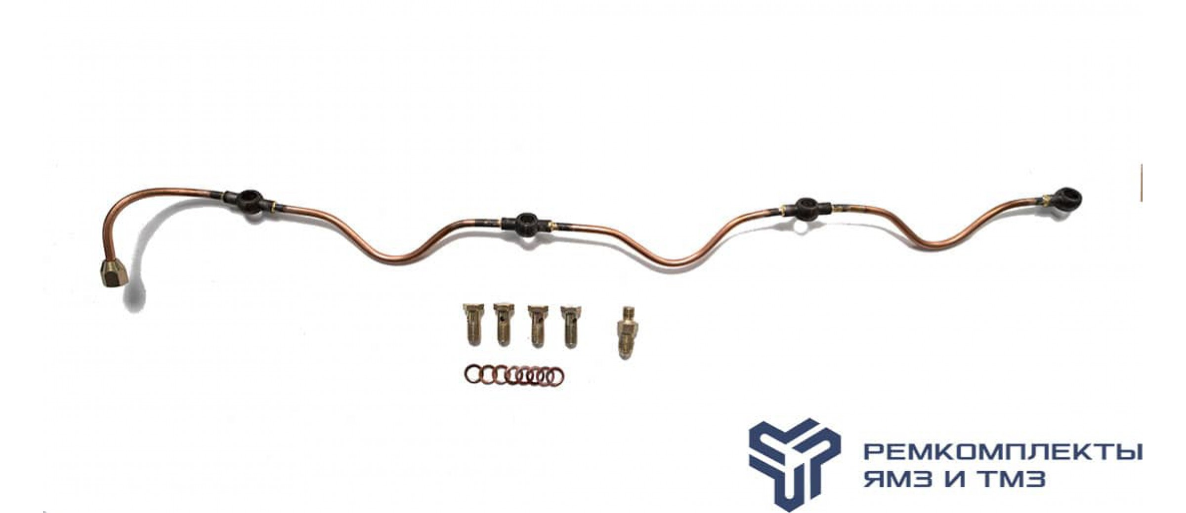 Ремкомплект дренажной трубки на 1 головку двигателя ЯМЗ-238 (общий ГБЦ)