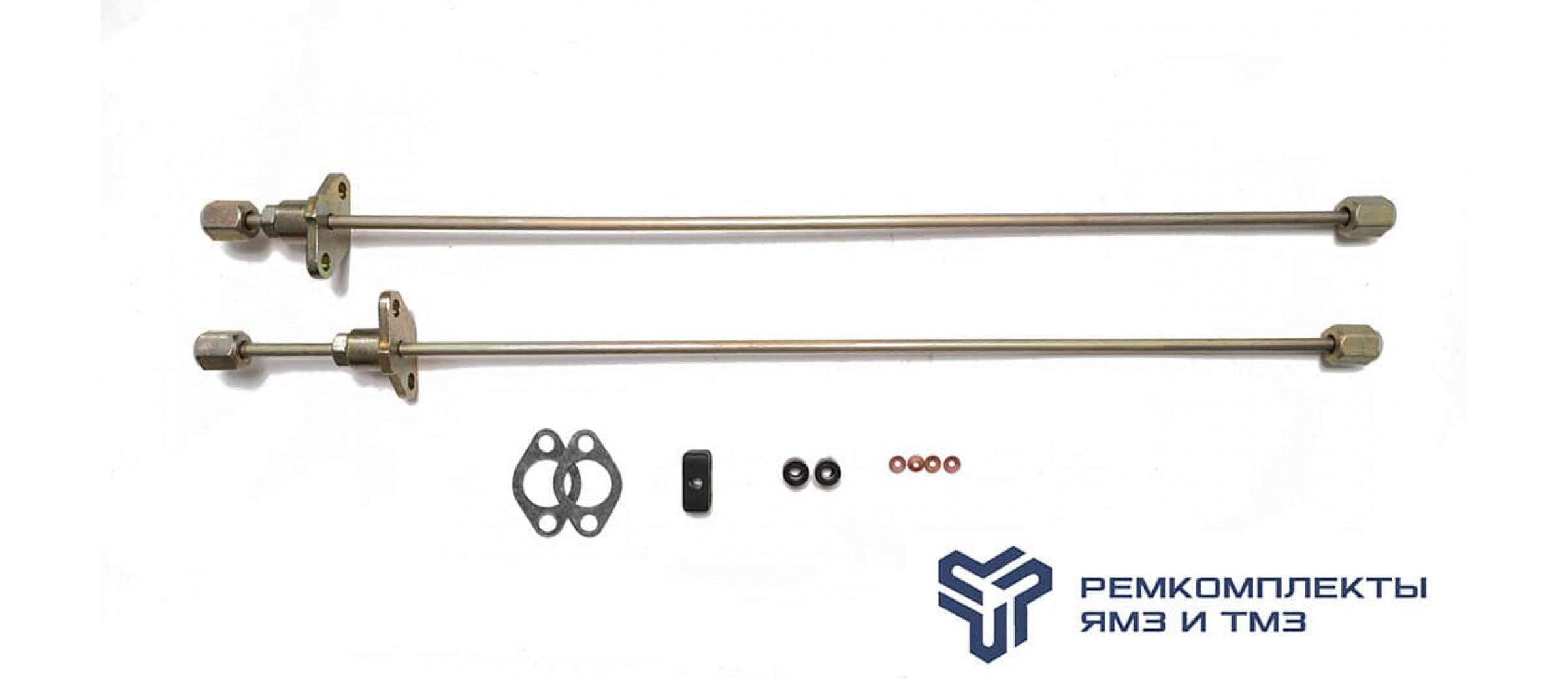 Комплект из  2-Х трубок высокого давления прямые блочные ГБЦ(+РТИ,ПАР)