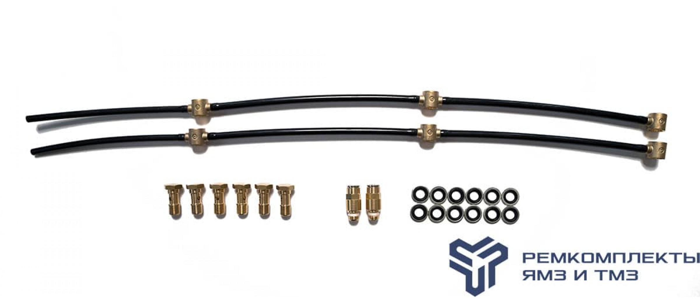 Ремкомплект дренажных трубок на двигатель ЯМЗ-6562 (Италия)