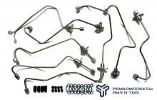 Комплект трубок высокого давления, гнутые,общая ГБЦ(+паронит,РТИ)