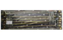 Комплект из 8 трубок высокого давления, прямые, общая ГБЦ(+паронит,РТИ)