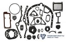Комплект прокладок двигателя ЯМЗ-6562, 6563 (общая ГБЦ) полный