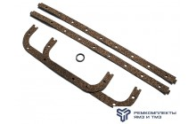 Ремкомплект крепления масляного картера двигателя ЯМЗ-236 (прокладка, медь)