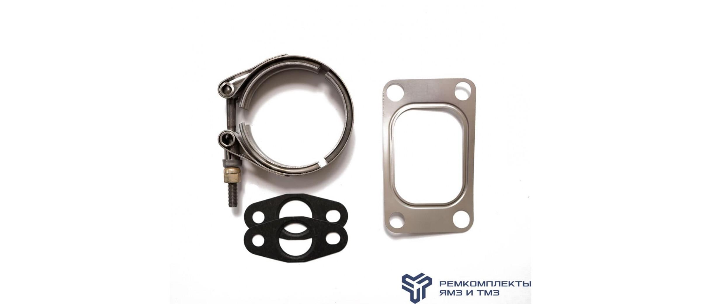 Ремкомплект крепления турбокомпрессора ЯМЗ-536 (прокладки,хомуты)